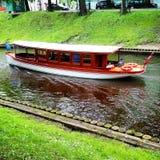 Rzeczna łódź zdjęcie royalty free