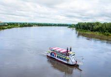 Rzeczna łódź na Missouri rzece zdjęcia royalty free