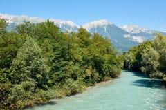 Rzeczna austeria blisko Innsbruck Zdjęcie Stock