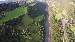 Rzeczna dolina w alps Salzburg Austria zbiory