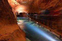 Rzeczna jama w Jenolan jam Błękitnych gór Nowych południowych waliach Austr Fotografia Royalty Free