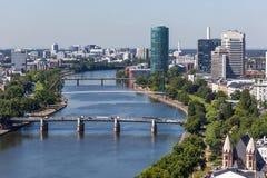 Rzeczna magistrala w Frankfurt, Niemcy obrazy stock