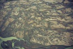 Rzeczna piasek delta Fotografia Royalty Free