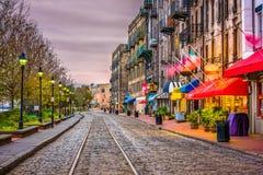 Rzeczna ulica, sawanna, Gruzja, usa Fotografia Stock