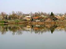 rzeczna wioska Zdjęcie Royalty Free