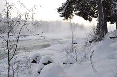 rzeczna zima Zdjęcie Royalty Free