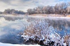 rzeczna zima fotografia stock