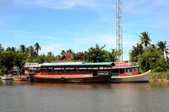 Rzeczne łodzie Obraz Royalty Free