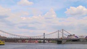 Rzeczni Moskva, Krimsky most i Frunze bulwar, Taymlaps zbiory wideo