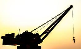 Rzeczny Ładowniczy żuraw Zdjęcia Stock