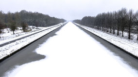 Rzeczny Aftre śnieg Fotografia Stock