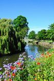 Rzeczny Anker i most, Tamworth Zdjęcie Royalty Free