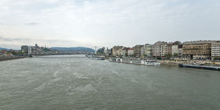 Rzeczny Danube w Budapest Węgry 04 Fotografia Royalty Free
