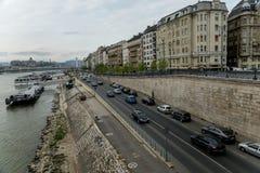 Rzeczny Danube w Budapest Węgry 01 Obraz Stock