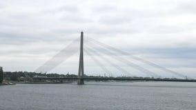 Rzeczny Daugava w Latvian zbiory