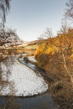 Rzeczny Don blisko Strathdon w Aberdeenshire, Szkocja Obrazy Royalty Free