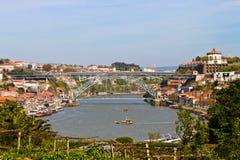 Rzeczny Douro, Porto Zdjęcie Stock