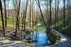 Rzeczny Ebro źródło Zdjęcie Royalty Free