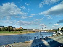 Rzeczny Elbe, Drezdeński, Niemcy zdjęcia stock