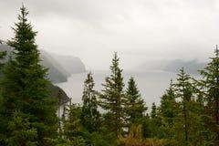 Rzeczny fjords widok Fotografia Stock
