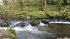Rzeczny Fowey, Golitha spadki, Bodmin Cumuje, Cornwall, UK obraz stock