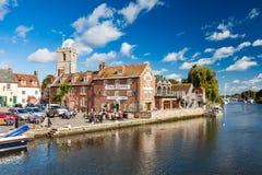 Rzeczny Frome Wareham Dorset obrazy stock