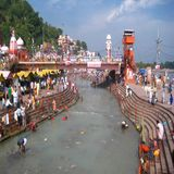 Rzeczny Ganga, Ghats, Haridwar, India fotografia royalty free
