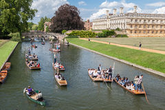 Rzeczny krzywka Cambridge Anglia Zdjęcie Stock