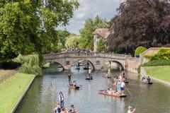 Rzeczny krzywka Cambridge Anglia Zdjęcie Royalty Free
