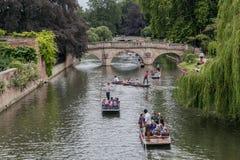 Rzeczny krzywka Cambridge Anglia Fotografia Royalty Free