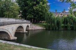 Rzeczny krzywka Cambridge Anglia Zdjęcia Royalty Free