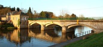Rzeczny Mayenne Francja zdjęcie stock