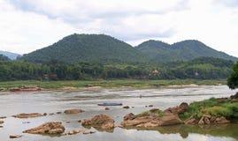 Rzeczny Mekong prawie Luang Prabang fotografia stock