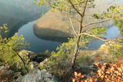 Rzeczny Moldau - Maj widok Zdjęcie Royalty Free