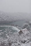 Rzeczny Mreznica w zimie Zdjęcie Royalty Free