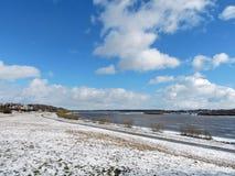 Rzeczny Nemunas blisko Jurbarkas miasteczka, Lithuania Zdjęcie Royalty Free