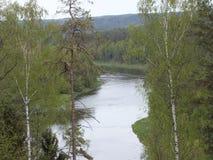 Rzeczny Neris w Lithuania Obraz Royalty Free