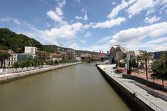 Rzeczny Nervion w Bilbao, Hiszpania Obraz Royalty Free
