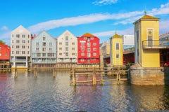Rzeczny Nidelva, Trondheim Fotografia Stock