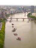 rzeczny niebo Thames Obrazy Royalty Free