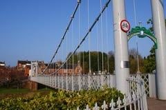 Rzeczny Nith zawieszenia most, Dumfries Zdjęcia Royalty Free