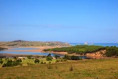 Rzeczny Pas usta, Cantabrian morze Obraz Royalty Free