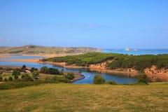 Rzeczny Pas usta, Cantabrian morze Zdjęcie Royalty Free