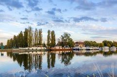 Rzeczny port w Saverne, Alsase, Francja zdjęcia royalty free