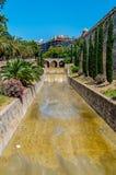 Rzeczny potoka de Sa Riera w Palmie, Mallorca, Hiszpania Obrazy Royalty Free