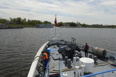 rzeczny rejs na Volga rzece Rosja Czerwiec 2014 r Zdjęcie Royalty Free