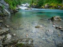 Rzeczny sceneria krajobraz fotografia royalty free