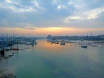 Rzeczny schronienie wschód słońca Zdjęcie Royalty Free