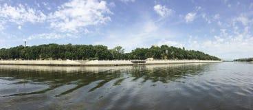 Rzeczny Sozh w Gomel Białoruś obraz stock