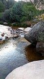 Rzeczny spływanie w parku narodowym Madryt zdjęcie stock